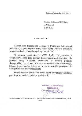 Przedszkole Hopsasa - Bukowina Tatrzańska