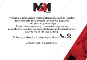 MBM Tychy pracuje zdalnie.